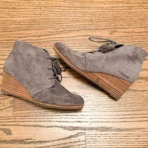 Dr. Schools Grey Ankle Booties Size 7.5